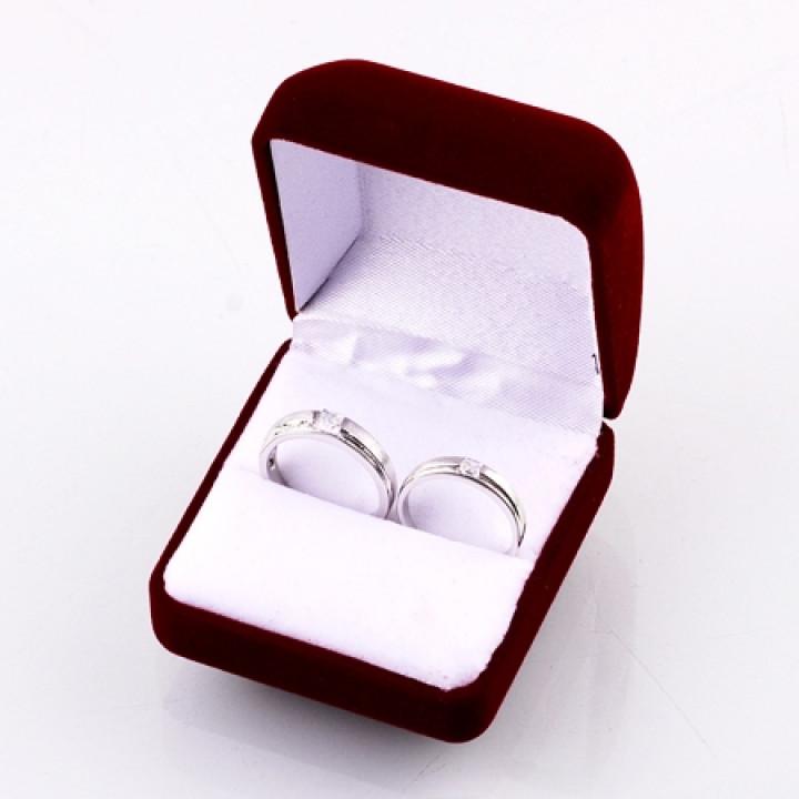 Бархатный футляр для кольца