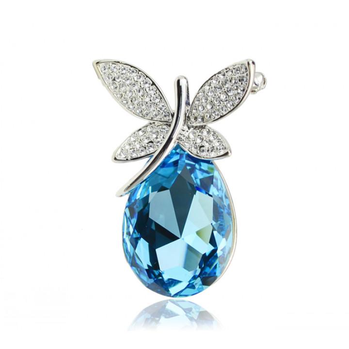 Брошь с кристаллами Сваровски 053155