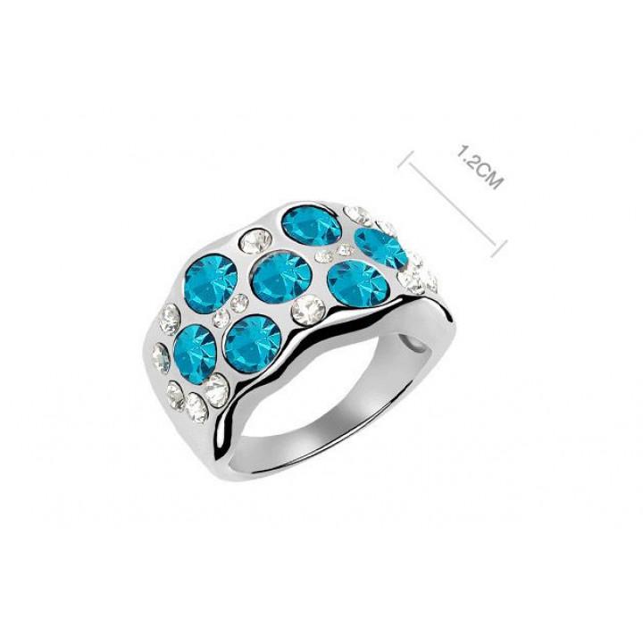 Кольцо с кристаллами Сваровски 11112215