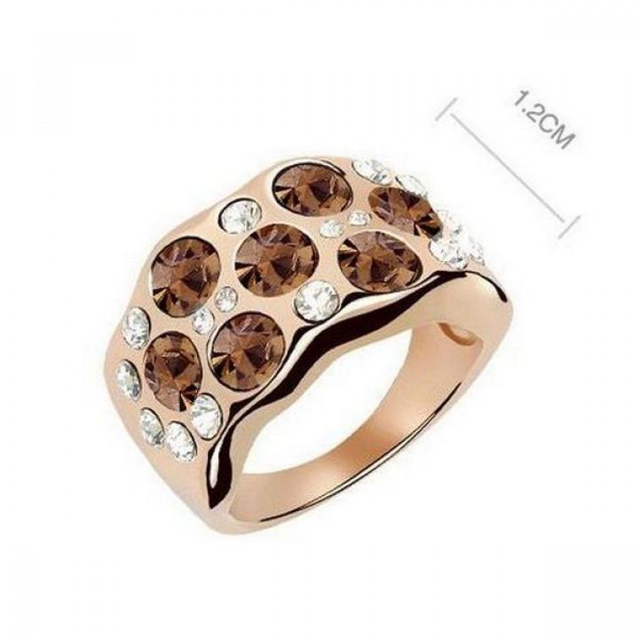 Кольцо с кристаллами Сваровски 11112217