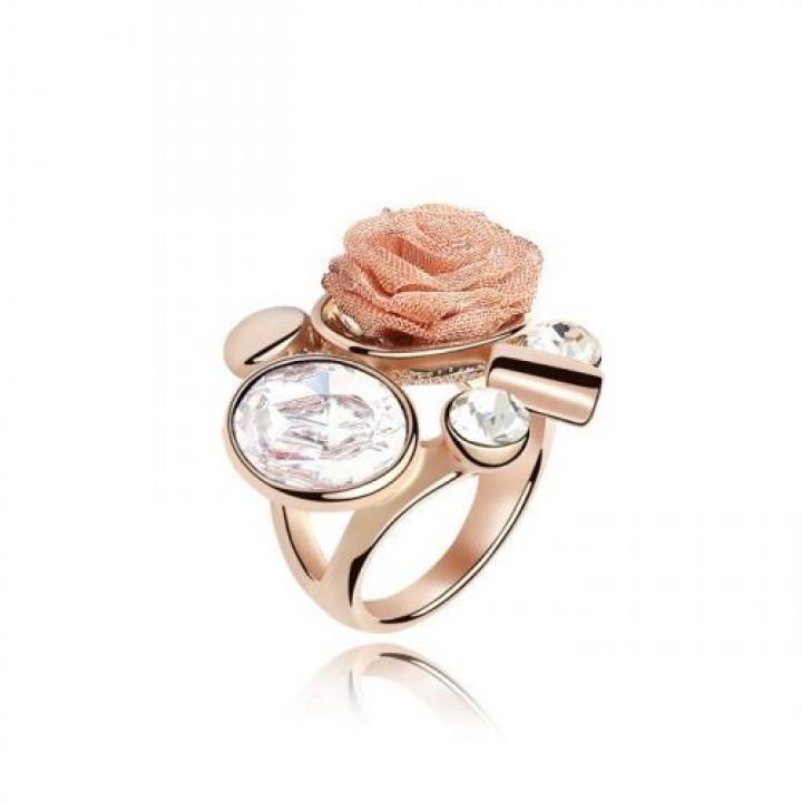 Кольцо с кристаллами Сваровски 11112606