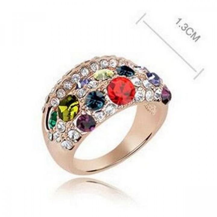 Кольцо с кристаллами Сваровски 11112636
