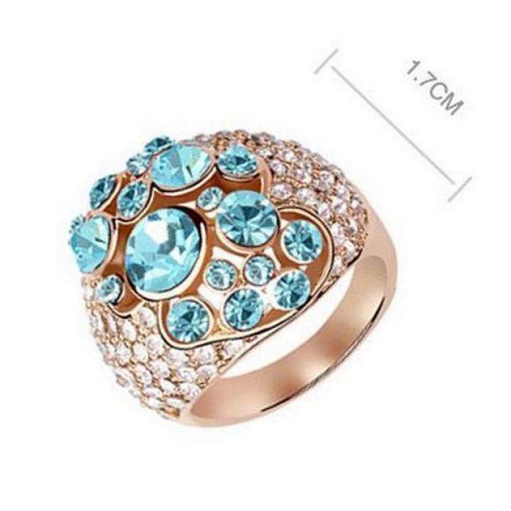Кольцо с кристаллами Сваровски 11122840