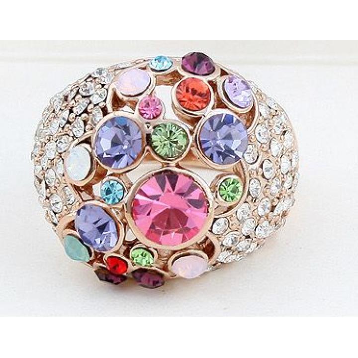 Кольцо с кристаллами Сваровски 11122842