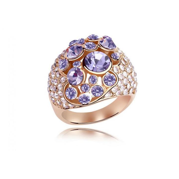 Кольцо с кристаллами Сваровски 11122843