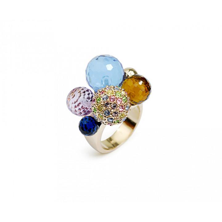 Кольцо с кристаллами Сваровски 1183012