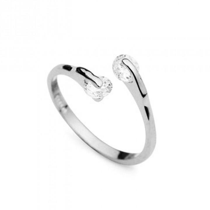 Кольцо с кристаллами Сваровски 91386