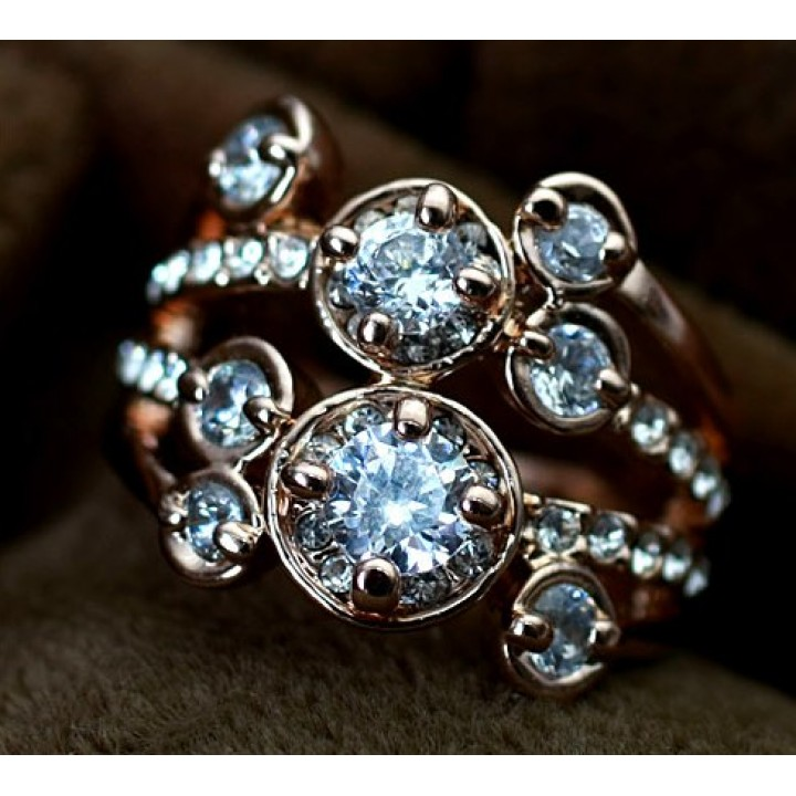 Кольцо с кристаллами Сваровски 96497b