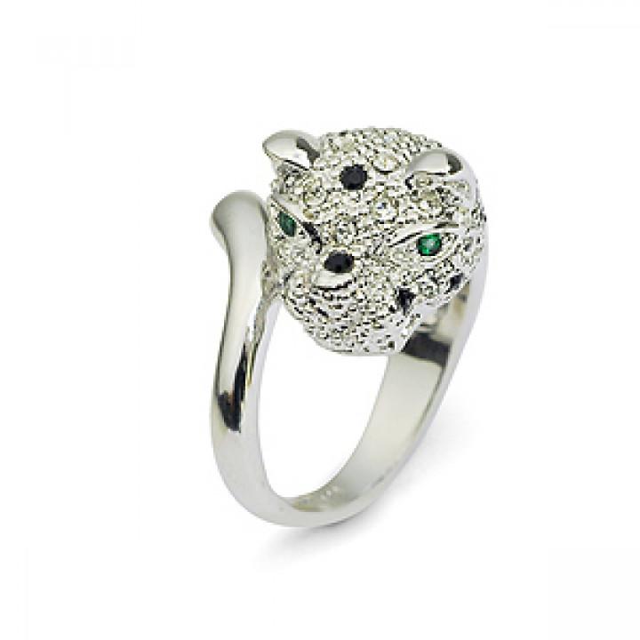 Кольцо с кристаллами Сваровски 007134