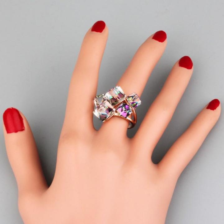 Кольцо с кристаллами Сваровски 096722a