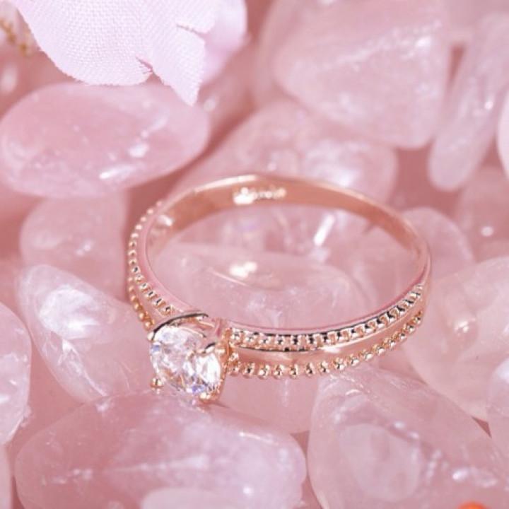 Кольцо с кристаллами Сваровски 096891