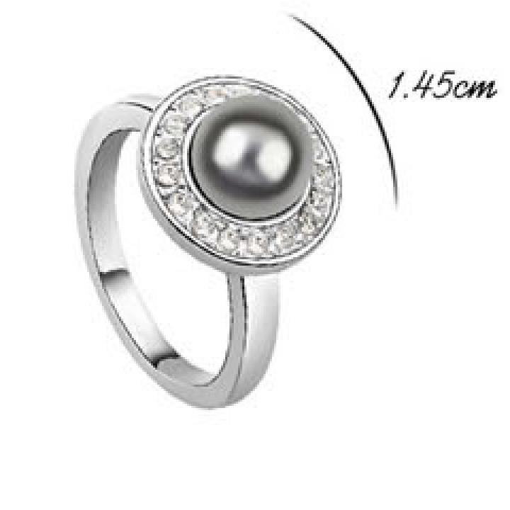 Кольцо с кристаллами Сваровски 12060667
