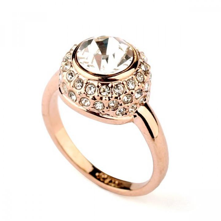 Кольцо с кристаллами Сваровски 595824