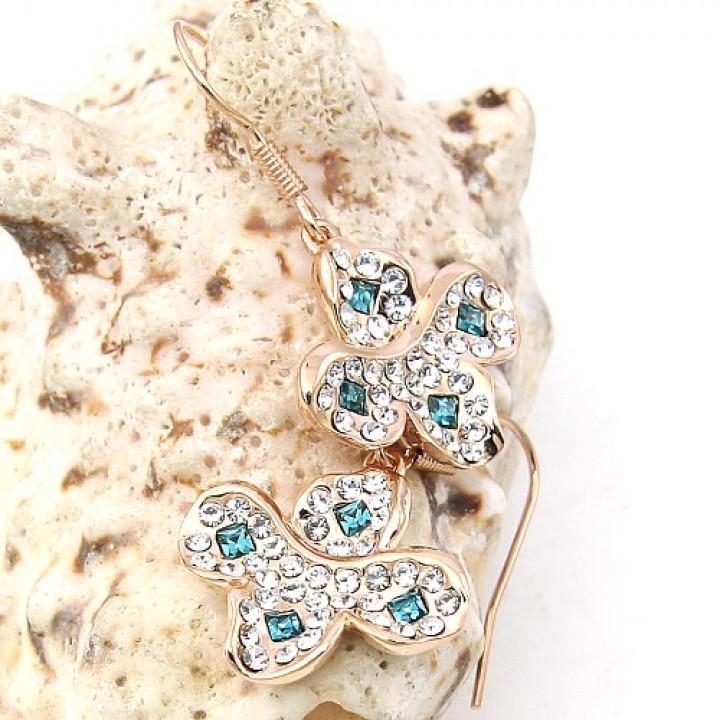 Серьги с кристаллами Сваровски 060238