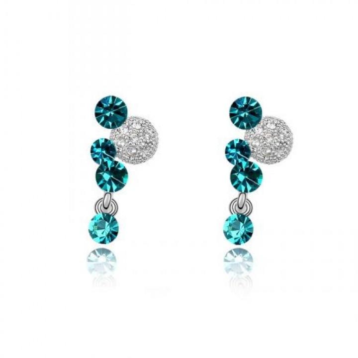 Серьги с кристаллами Сваровски 11112241