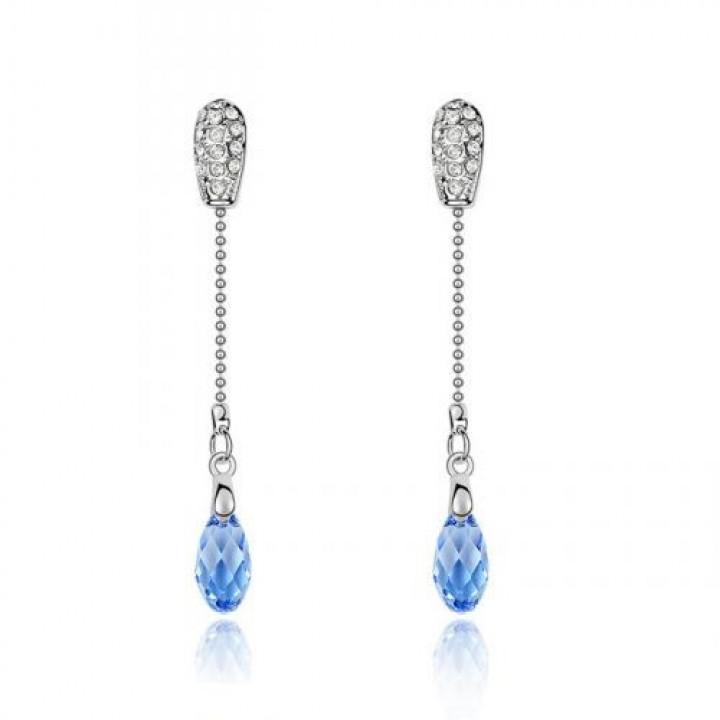 Серьги с кристаллами Сваровски 11113028