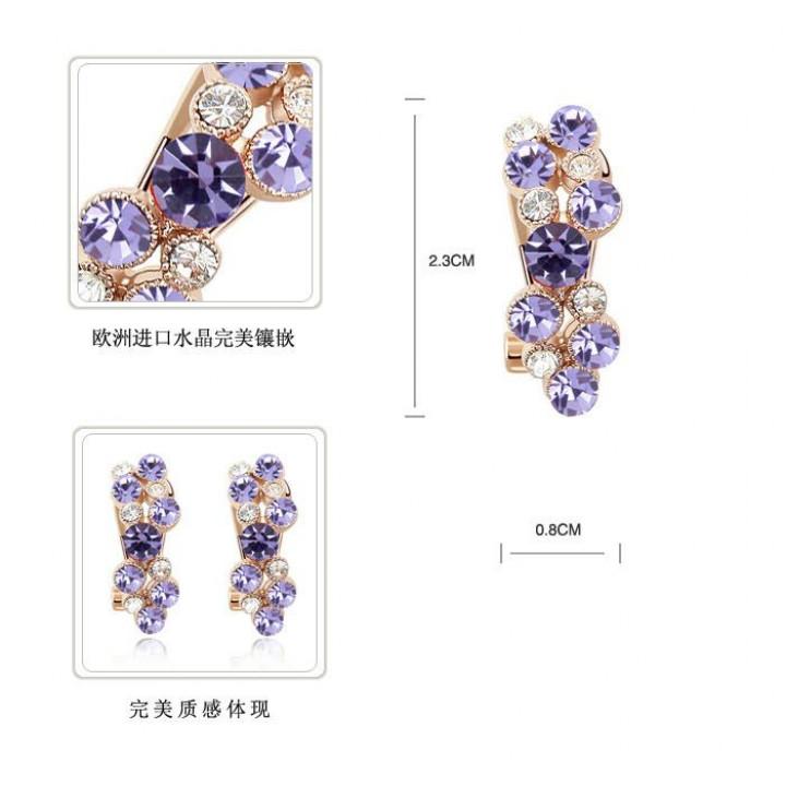 Серьги с кристаллами Сваровски 11122217