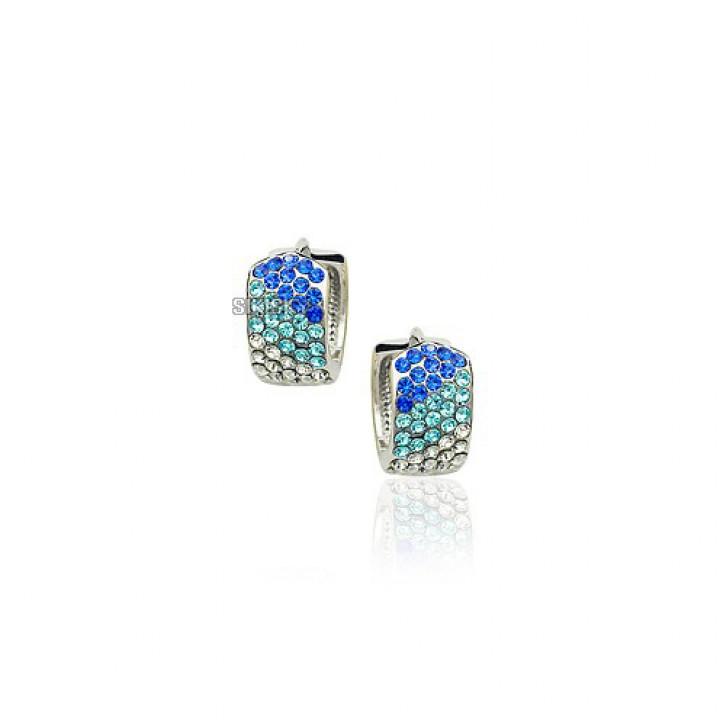 Серьги с кристаллами Сваровски 1130539