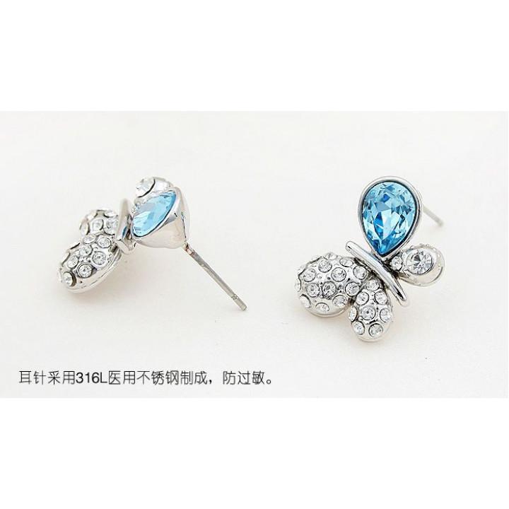 Серьги с кристаллами Сваровски 1142620