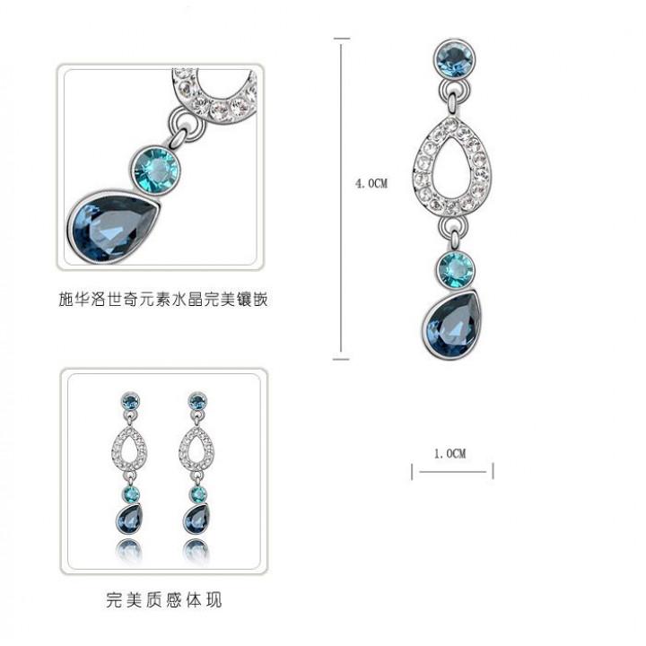 Серьги с кристаллами Сваровски 1192742