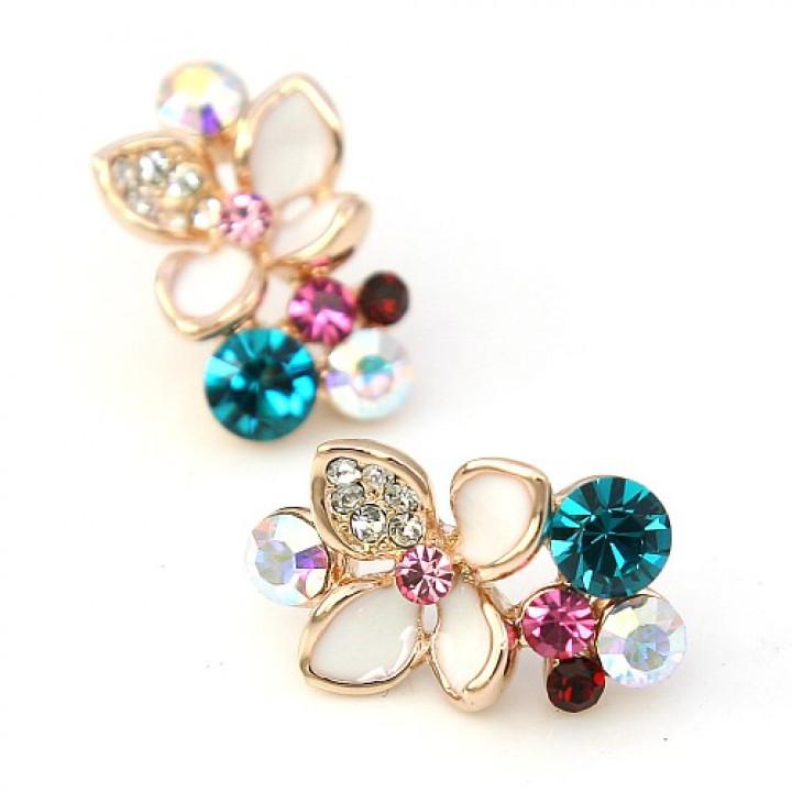Серьги с кристаллами Сваровски 3217737