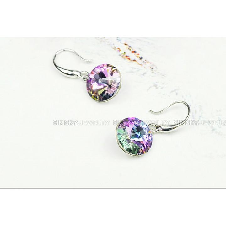 Серьги с кристаллами Сваровски 322003