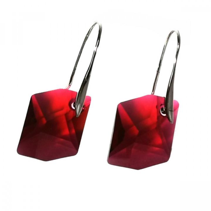 Серьги с кристаллами Сваровски 980234