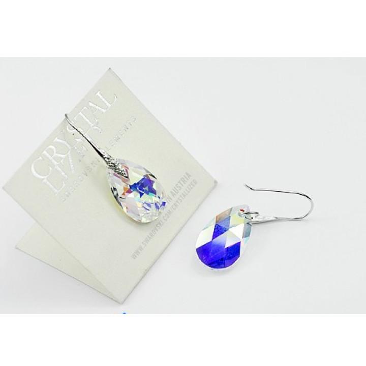 Серьги с кристаллами Сваровски 980440