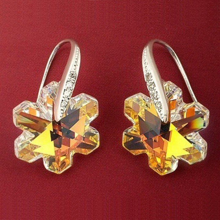 Серьги с кристаллами Сваровски 980477