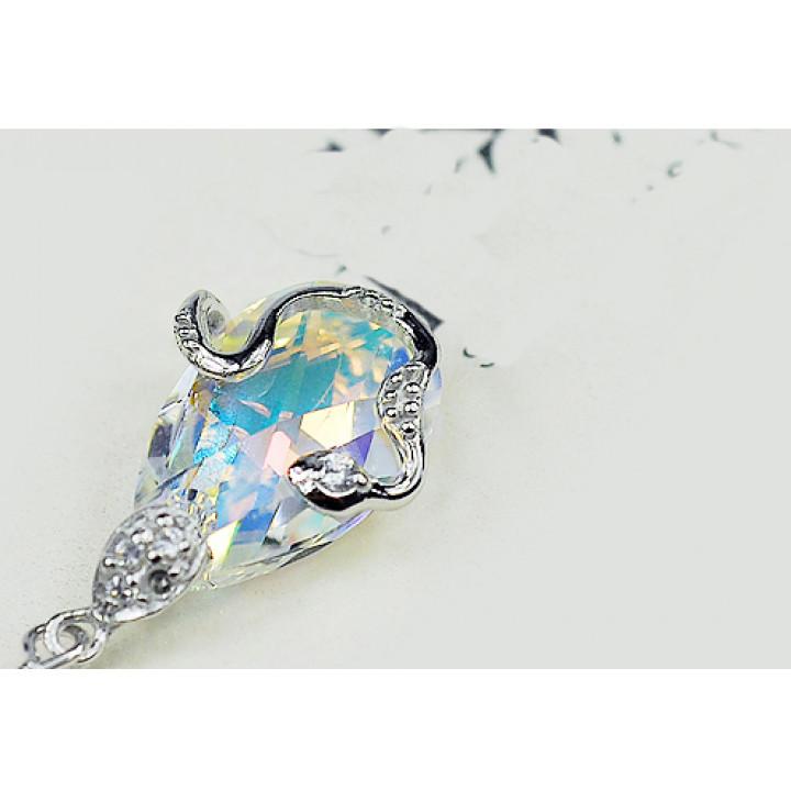 Серьги с кристаллами Сваровски 980515