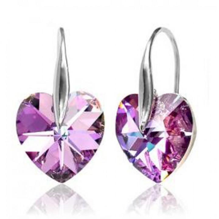 Серьги с кристаллами Сваровски 980539