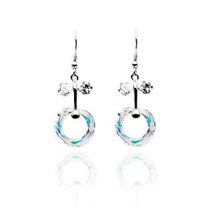 Серьги с кристаллами Сваровски 980542