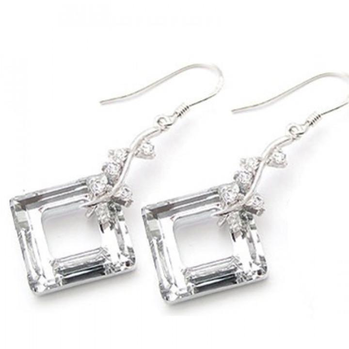 Серьги с кристаллами Сваровски 980558