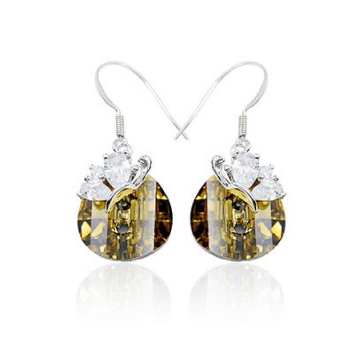 Серьги с кристаллами Сваровски 980566
