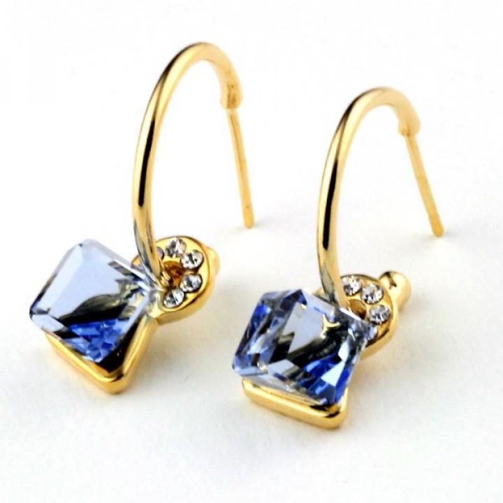 Серьги с кристаллами Сваровски 07026h