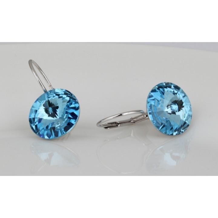 Серьги с кристаллами Сваровски 085947e