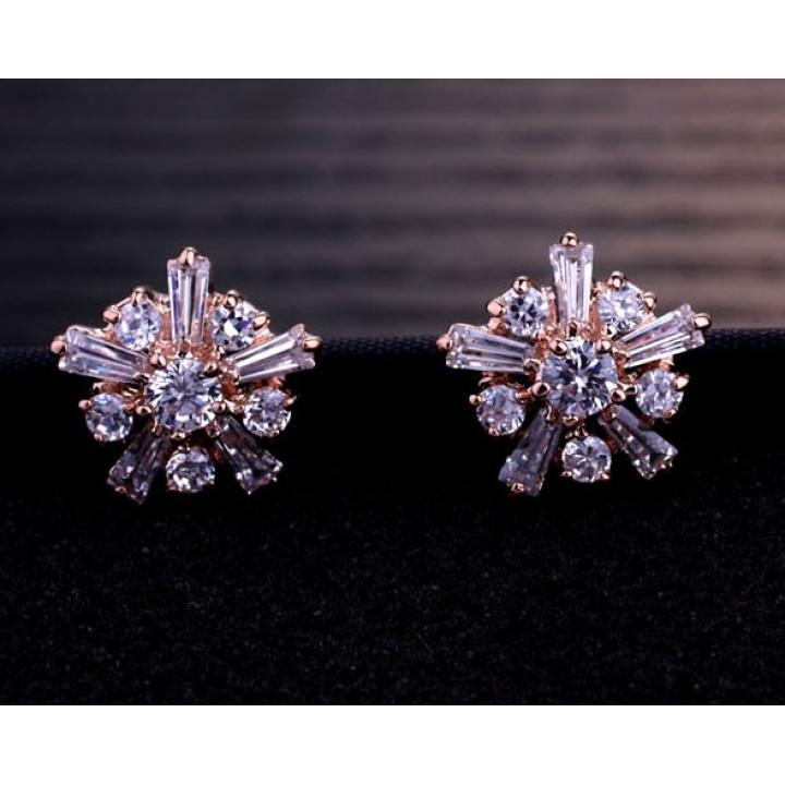 Серьги с кристаллами Сваровски 5125347