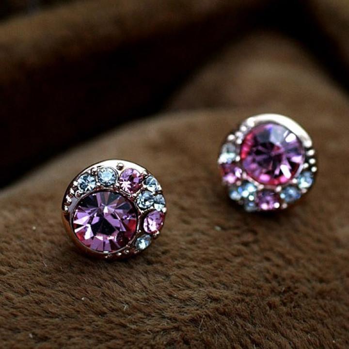 Серьги с кристаллами Сваровски 532085