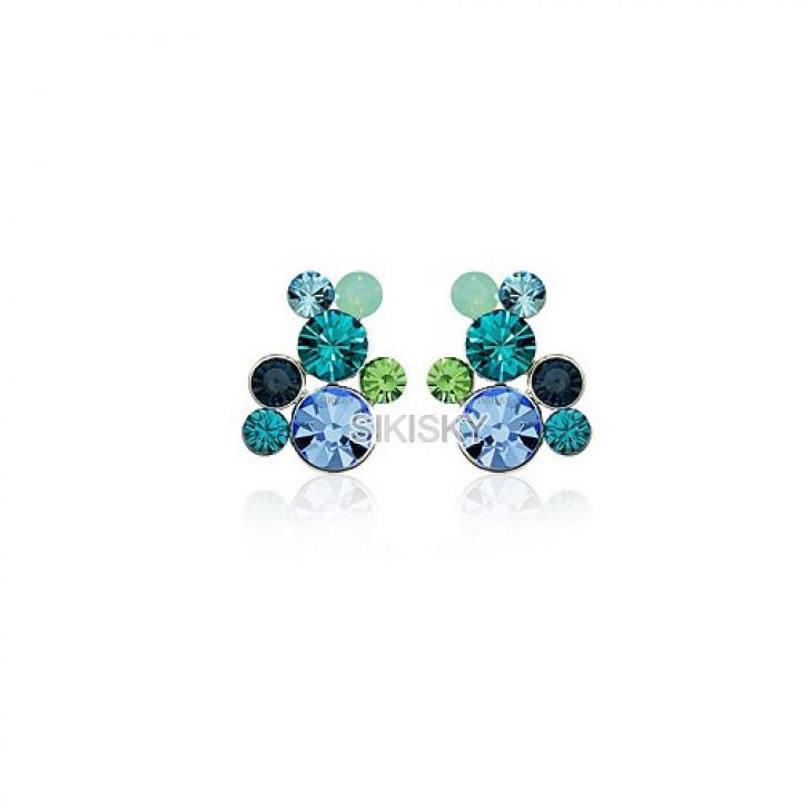 Серьги с кристаллами Сваровски 85181