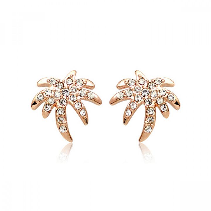 Серьги с кристаллами Сваровски 85757