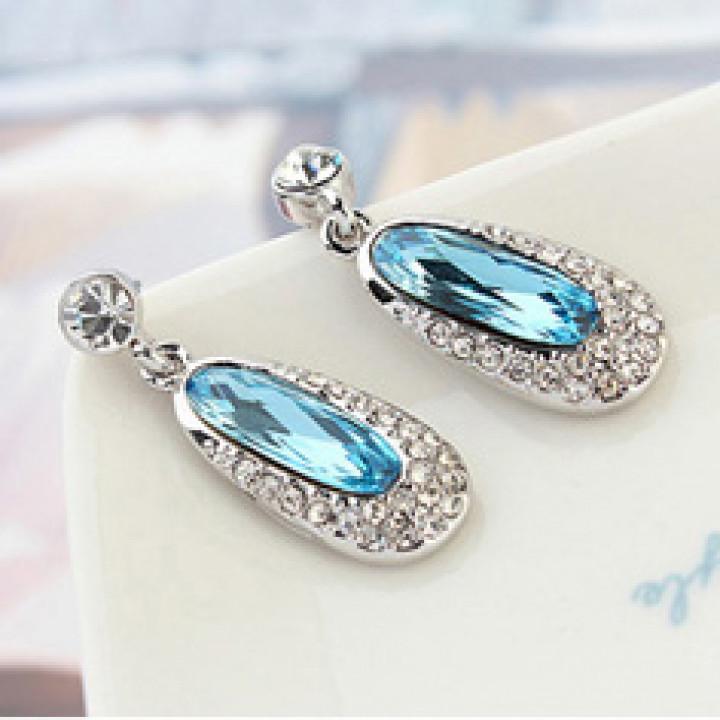 Серьги с кристаллами Сваровски 9984