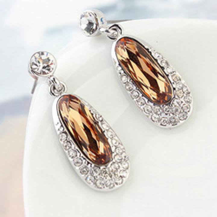 Серьги с кристаллами Сваровски 9985